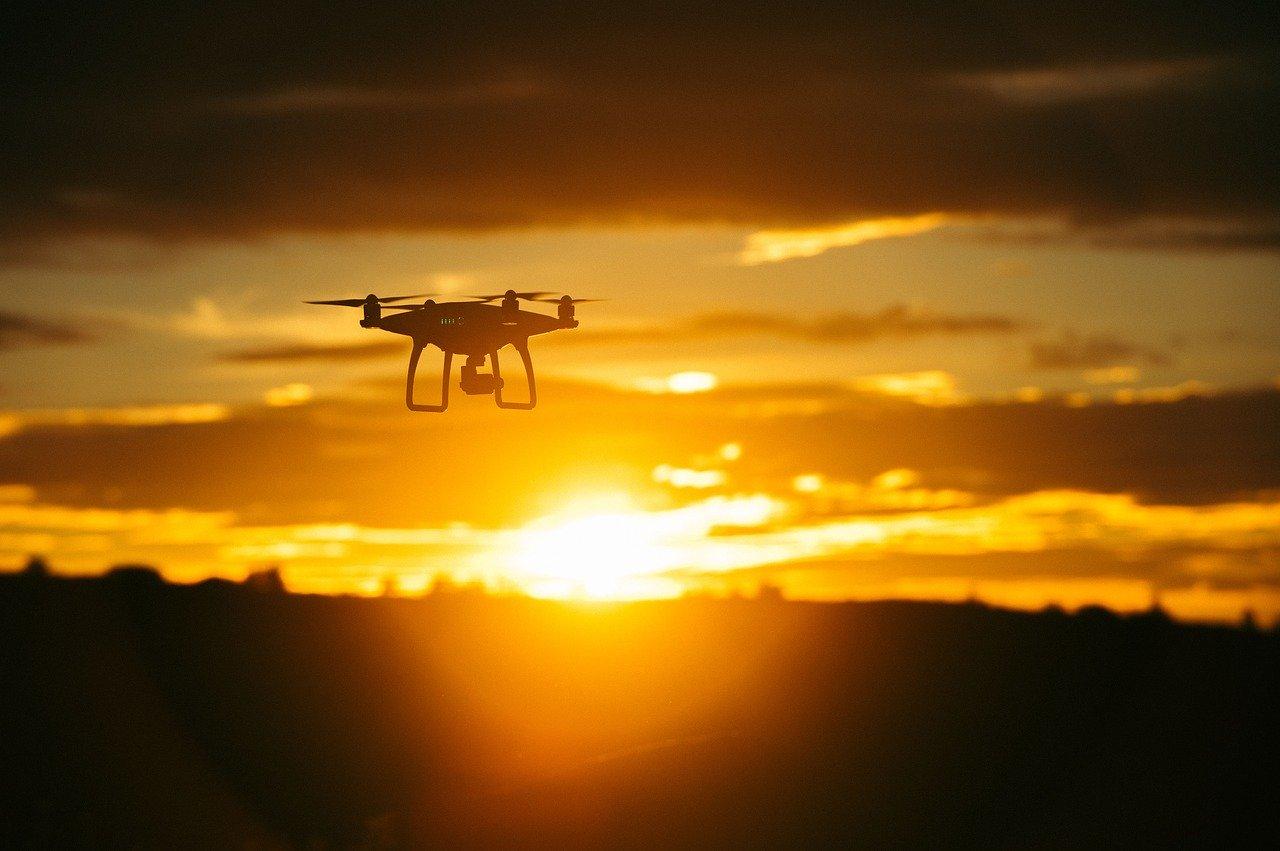 captation drone coucher de soleil